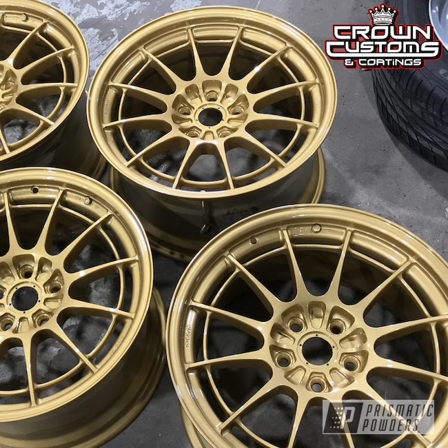 Powder Coating: Enkei Wheels,Clear Vision PPS-2974,Spanish Gold EMS-0940