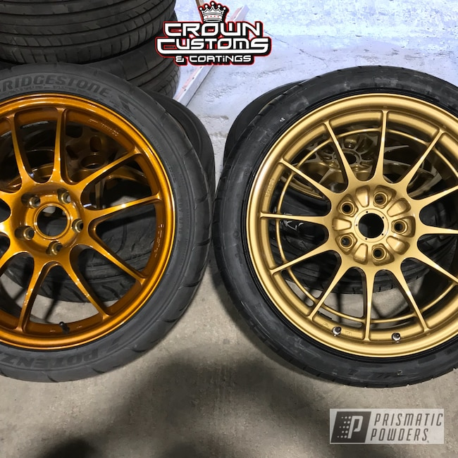 Powder Coating: Wheels,Enkei Wheels,Clear Vision PPS-2974,Illusion Spanish Fly PMB-6920,Spanish Gold EMS-0940