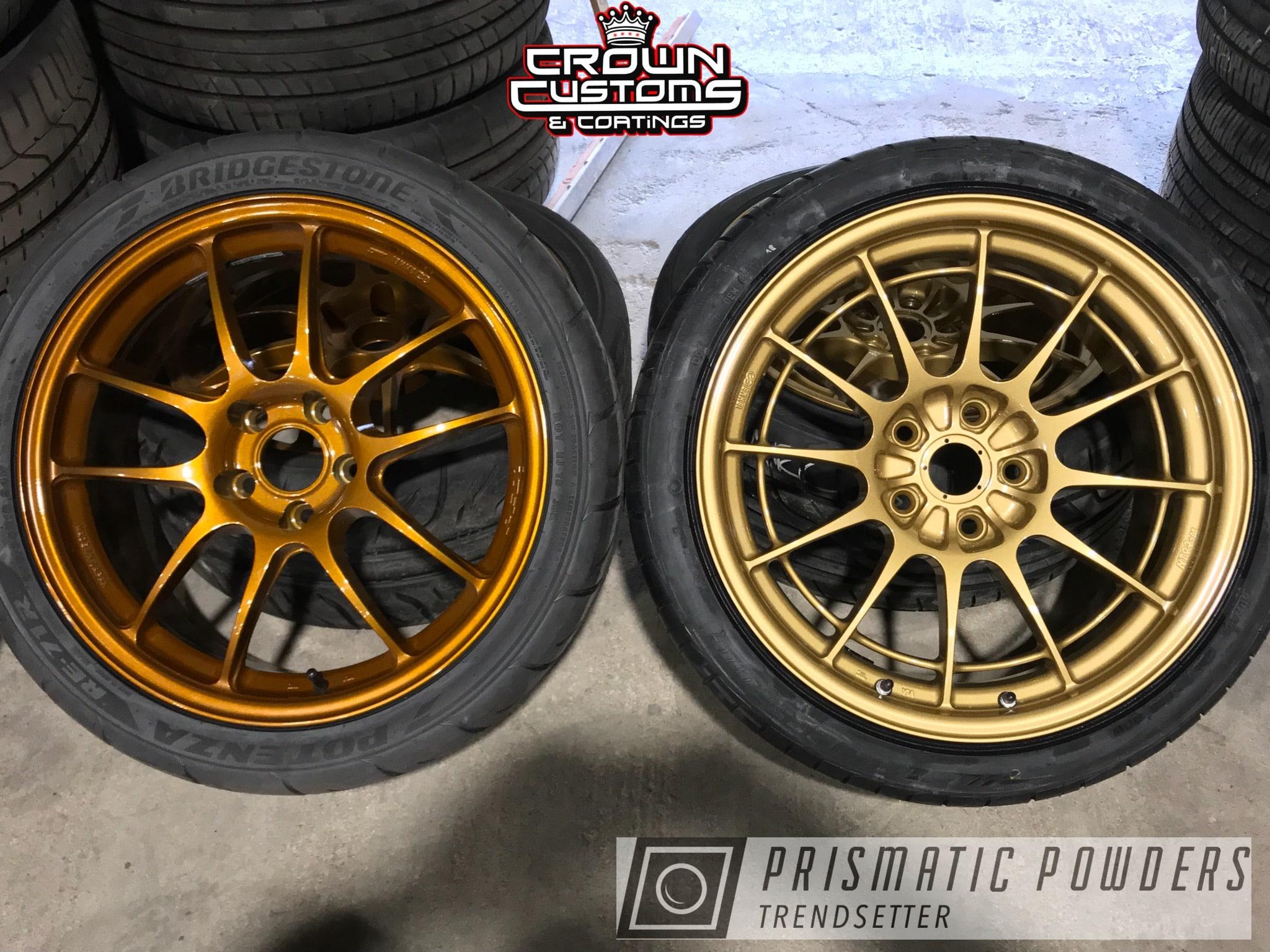 Powder Coating: Wheels,Enkei Wheels,Clear Vision PPS-2974,Illusion Spanish Fly PMB-6920,Spanish Gold EMS-0940