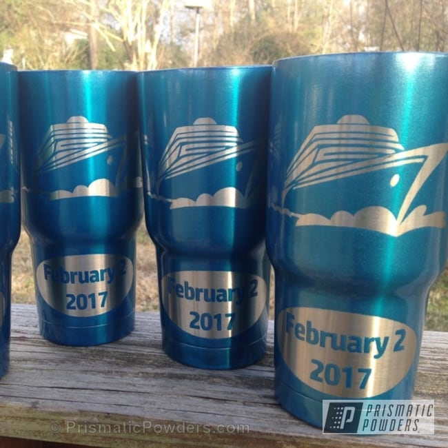 Cups Customized In A Mariner Blue Finish