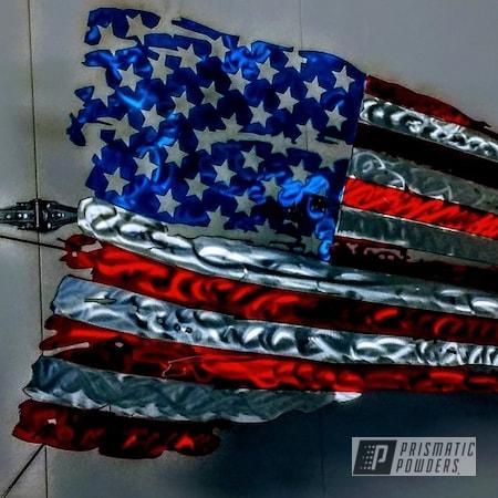 Powder Coating: American Flag,Hawaii Blue PPS-4483,Art,PASTEL RED UPB-4579,Custom Sign,American Flag Theme