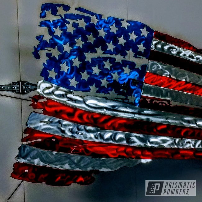 Powder Coating: American Flag,Hawaii Blue PPS-4483,Art,PASTEL RED UPB-4579,Custom Sign,American Flag Theme