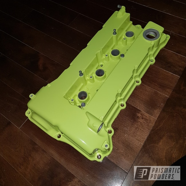 Powder Coating: Automotive,Valve Covers,Neon Yellow PSS-1104