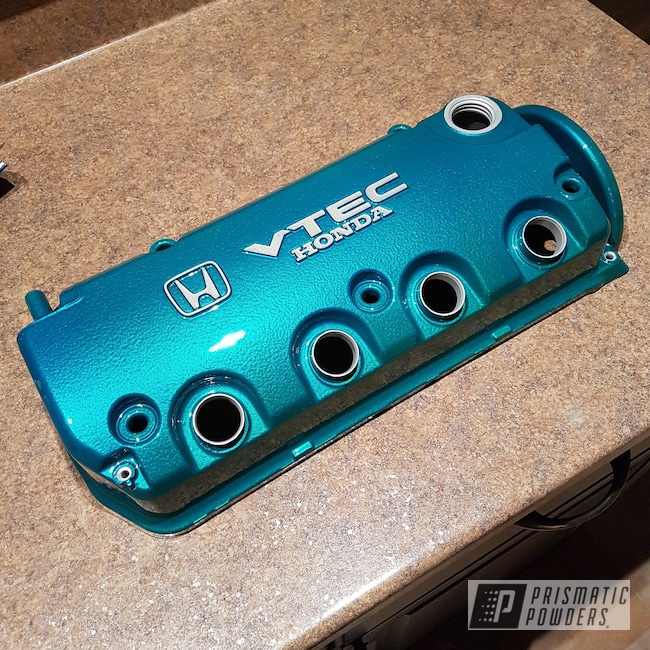 Powder Coating: Clear Vision PPS-2974,Honda Valve Cover,Illusion Tropical Fusion PMB-6919,Valve Cover