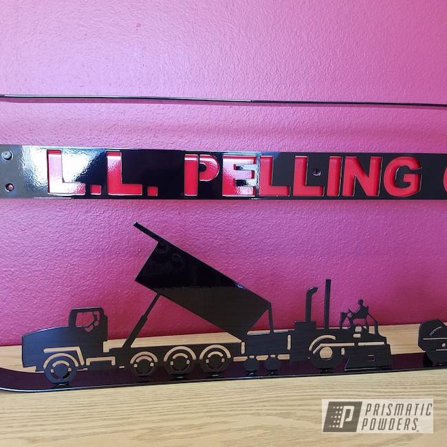 Powder Coating: Ink Black PSS-0106,RAL 3002 RAL-3002,Art,Sign,Custom Sign