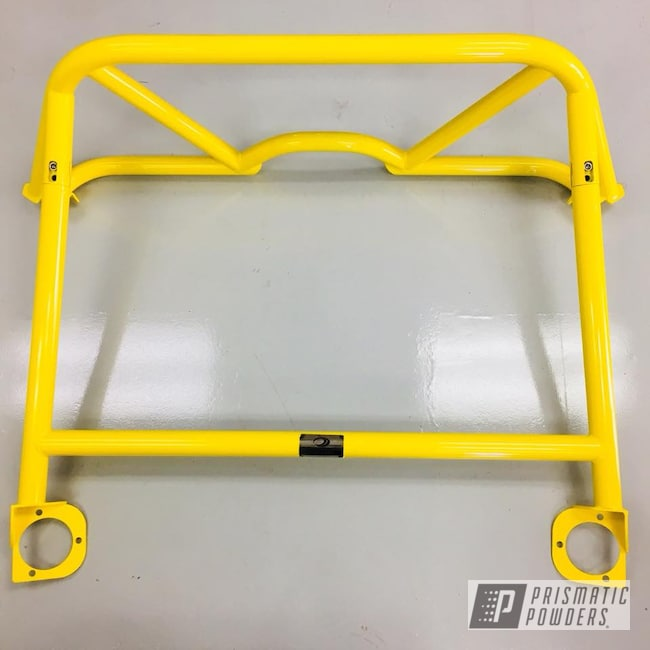 Powder Coating: Automotive,Porsche,Roll Bar,RAL 1018 Zinc Yellow,GT4