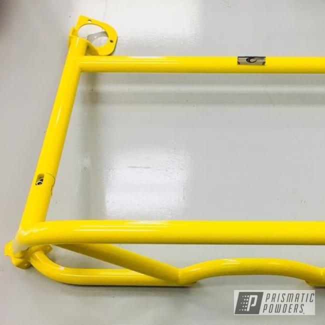 Powder Coating: Automotive,Porsche,Roll Bar,RAL 1018 ZincYellow,GT4