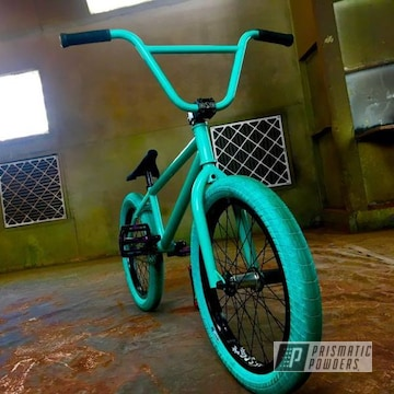 Color Matched This Bmx Bike's Teal Color Using A Tropical Breeze Coating