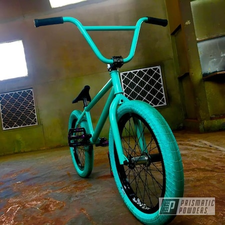 Powder Coating: Color Match,Tropical Breeze PSS-6837,Bike Frame,BMX Bike