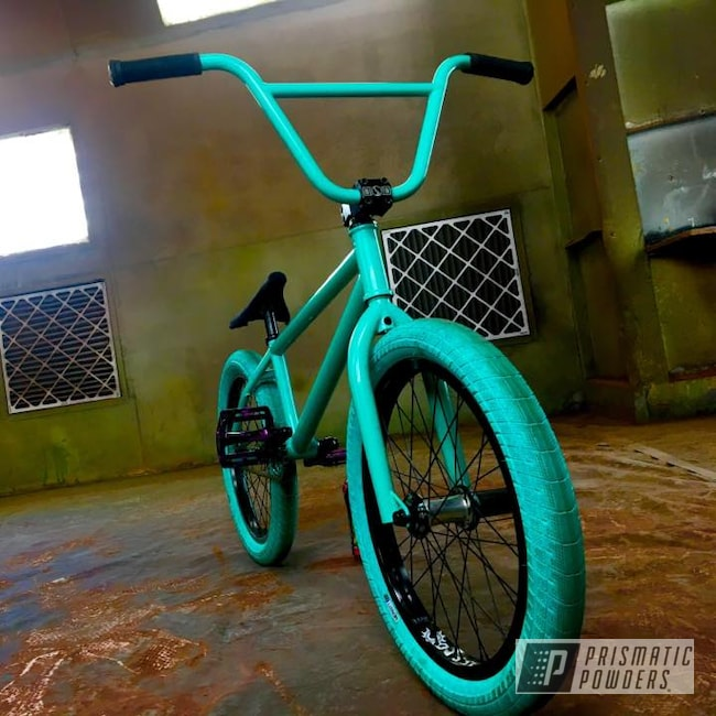 Powder Coating: Color Match,Tropical Breeze PSS-6837,Bike Frame,BMX Bike