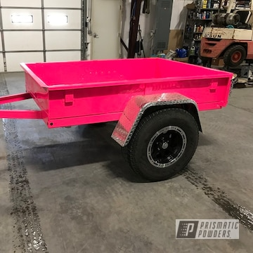 Camping/utility Trailer For A Jeep Coated Using Sassy And Clear Vision