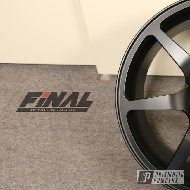 Powder Coating: Wheels,Automotive,Matte,BLACK JACK USS-1522,Subaru