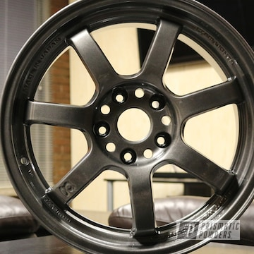Custom Wheels Coated In Kingsport Grey With A Gloss Clear Finish