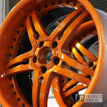 Powder Coating: Clear Vision PPS-2974,Three Piece,Illusion Tangerine,Illusion Tangerine Twist PMS-6964