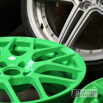 Wheels Coated In Energy Green