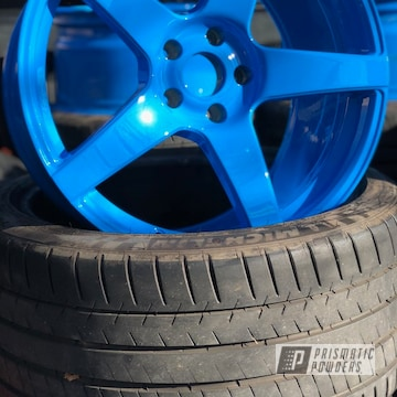 Custom Wheels In Playboy Blue And A Clear Vision Top Coat