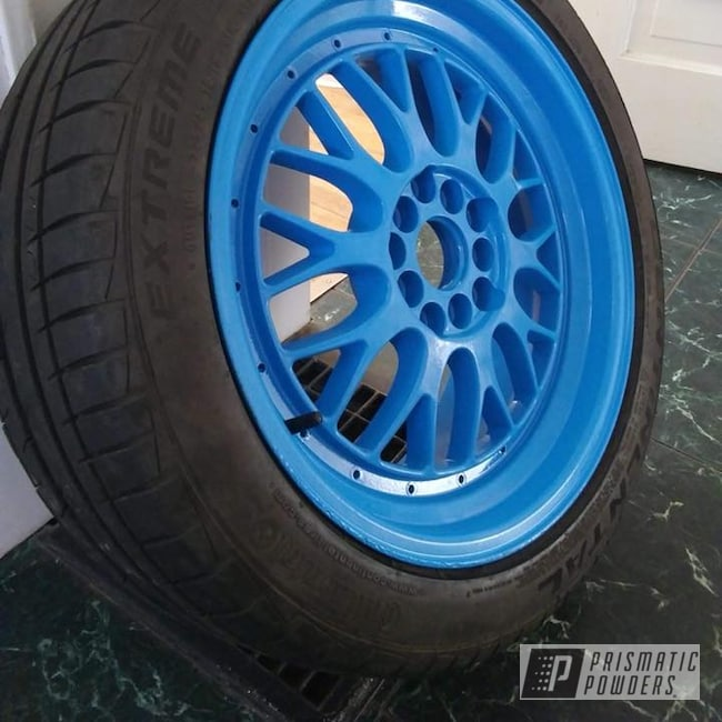Powder Coating: Wheels,Automotive,Playboy Blue PSS-1715,XXR Wheels
