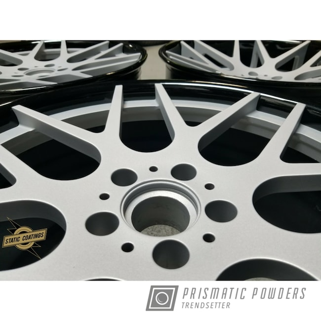 Powder Coating: Wheels,Automotive,Casper Clear PPS-4005,Class A Silver PMB-4202