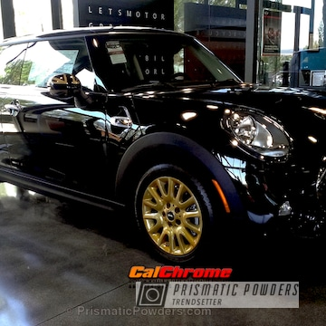 Mini Cooper S Wheels Customized In A Transparent Gold Finish