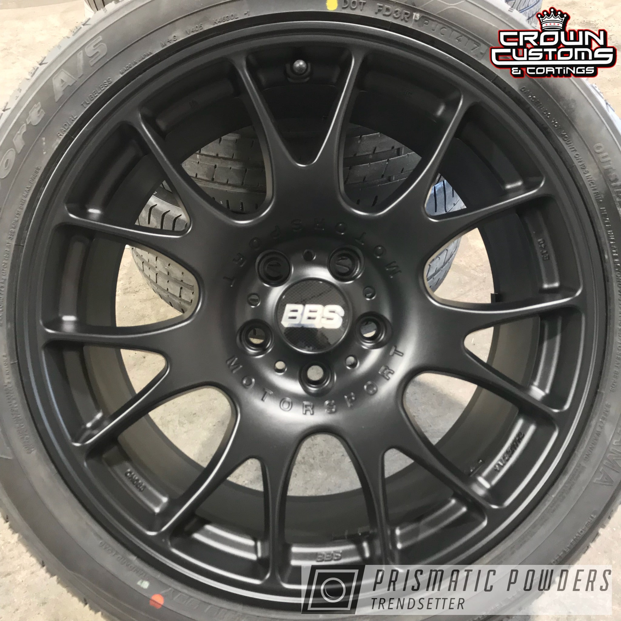 Powder Coating: Wheels,BLACK JACK USS-1522,BBS Wheels