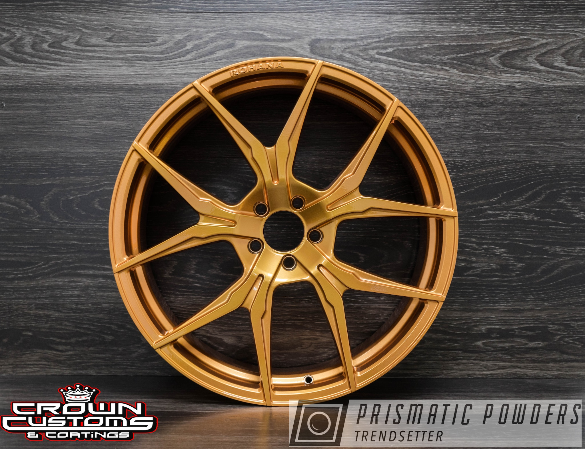 Powder Coating: Illusion True Copper PMB-10044,Wheels,Automotive,Clear Vision PPS-2974,Rohana Wheels