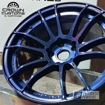 Ray Gram Lights Done In Diamond Blue With Clear Vision Top Coat
