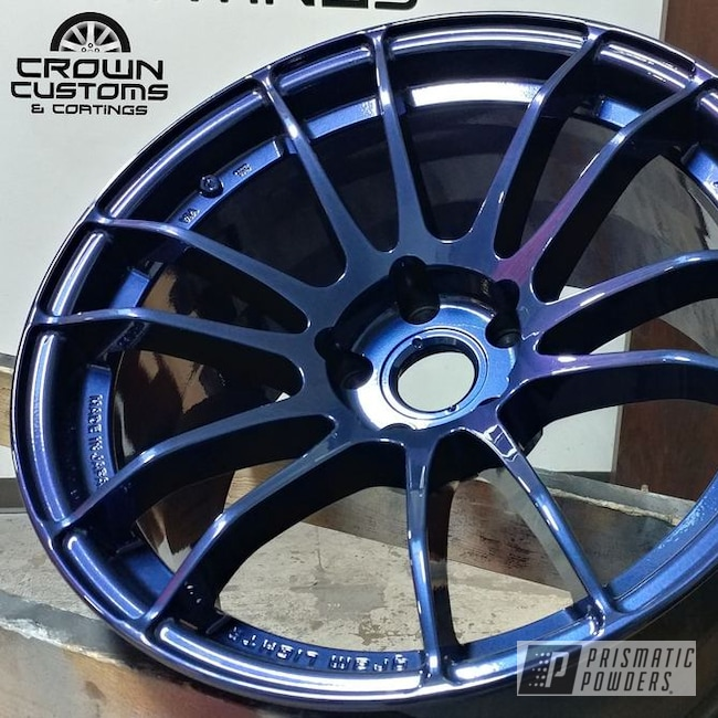 Powder Coating: Wheels,Automotive,Clear Vision PPS-2974,RAYS Wheels,Diamond Blue PMB-4042
