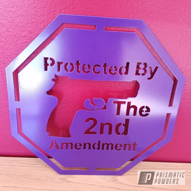 Powder Coating: Galaxy Wave PMB-2497,Sign,2nd Amendment