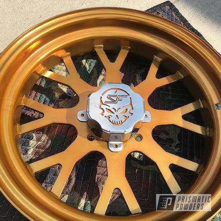 Powder Coating: Custom Rims,SUPER CHROME USS-4482,Custom Wheels,Powder Coated Rims,UTV,side by side,Powder Coated Wheels,Transparent Gold PPS-5139