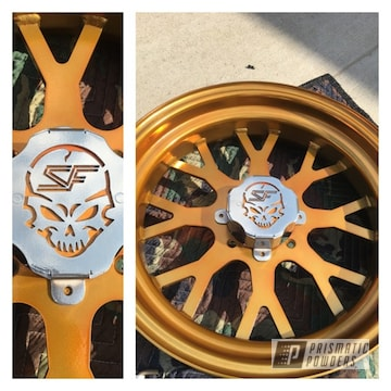 A Set Of Custom Utv Wheels We Did With Super Chrome And Transparent Gold