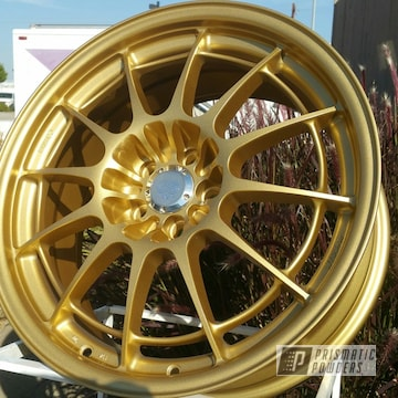 Spanish Gold Over This Custom Wheel