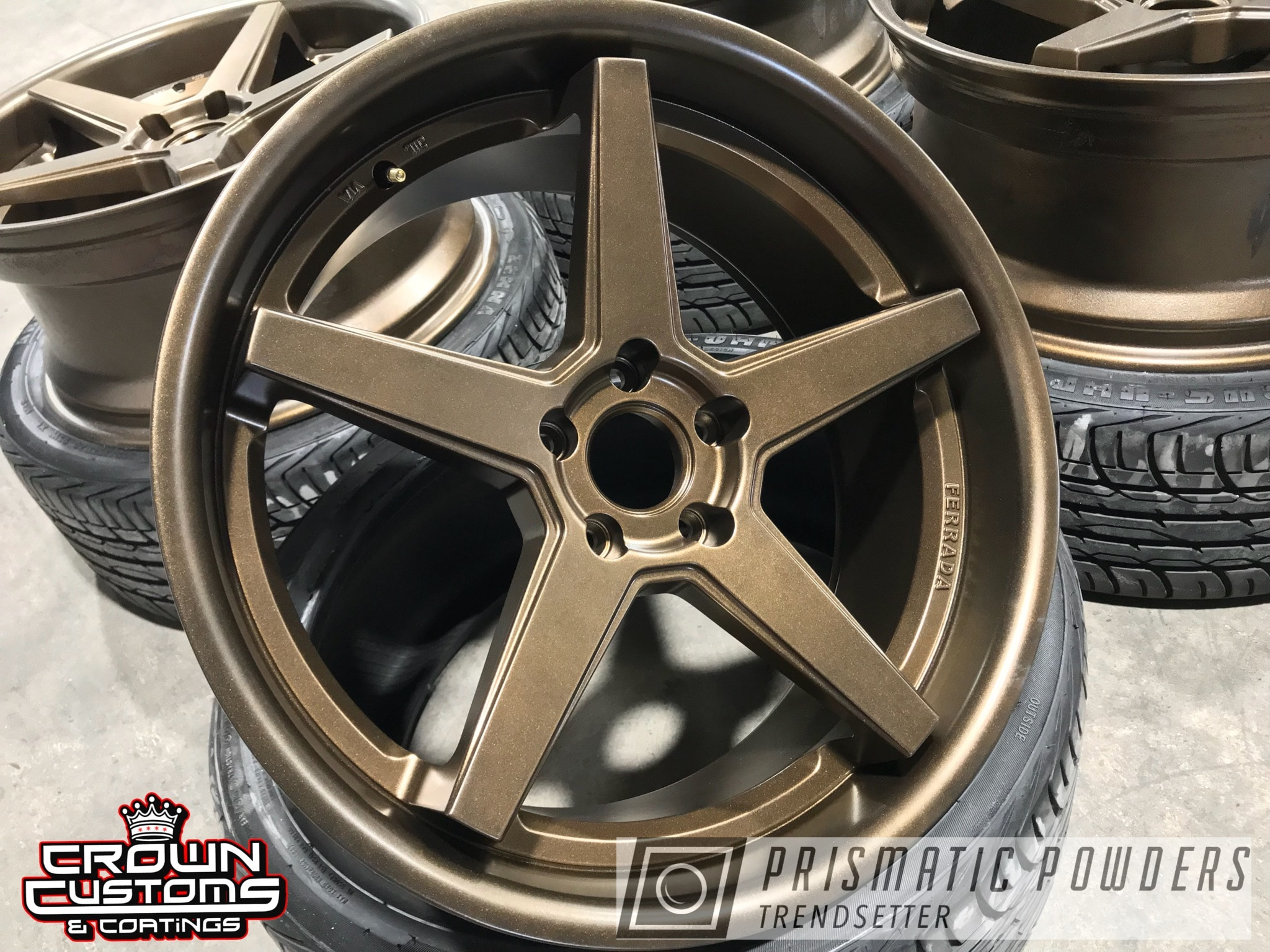 Powder Coating: Wheels,Ferrada,Automotive,Soft Clear PPS-1334,Bronze Chrome PMB-4124,Ferrada Wheels