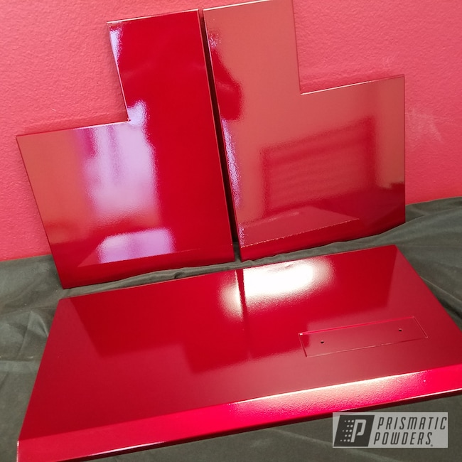 Powder Coating: Custom,espresso machine panels,Clear Vision PPS-2974,Illusion Cherry PMB-6905,Custom 2 Coats,Miscellaneous