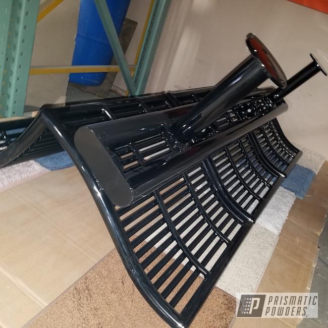 Powder Coating: Ink Black PSS-0106,Park Bench,Furniture