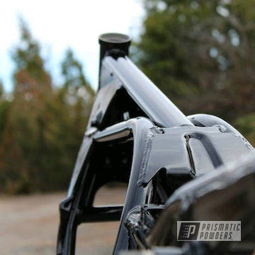 Powder Coated Motorcycle Frame In Gloss Black