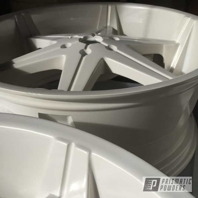 Custom Rims Coated In Pearl White