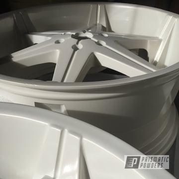 Custom Rims Coated In Pearl White