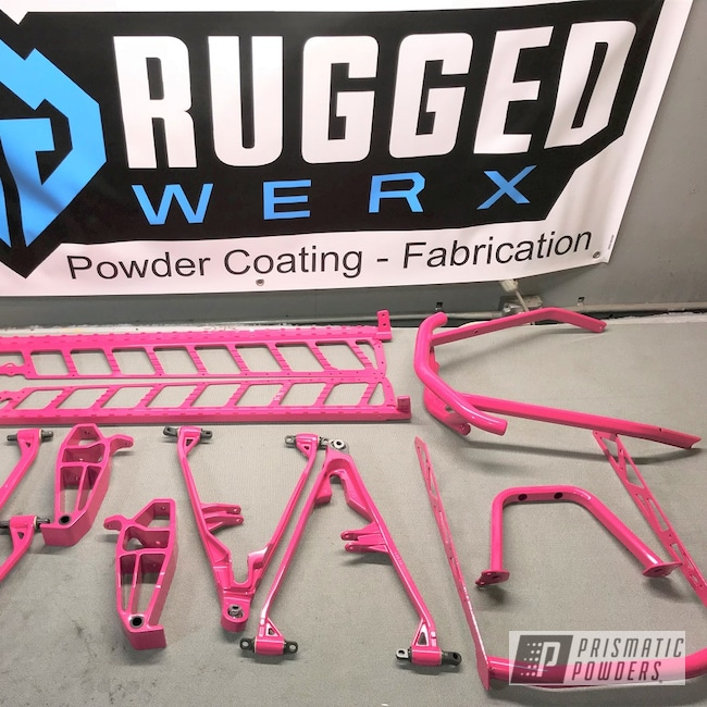 Powder Coating: Snowmobile Parts,Snowmobile,Passion Pink PSS-4679,Powersports