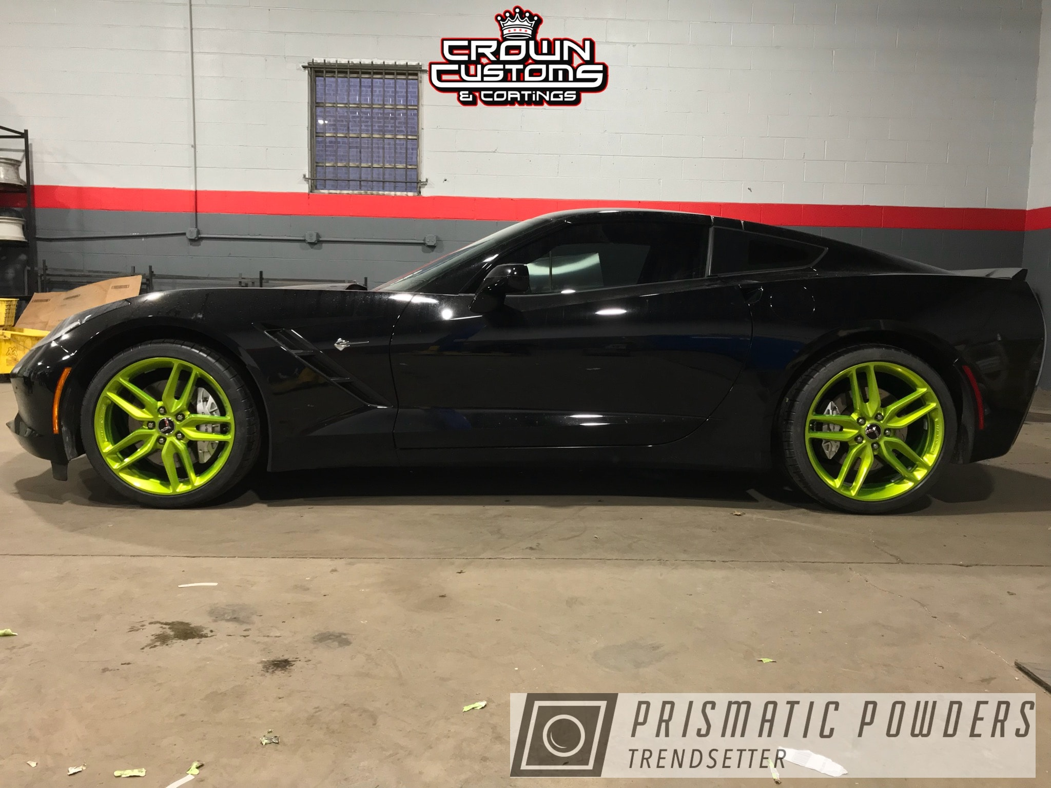 Powder Coating: Clear Vision PPS-2974,Chevrolet,Illusion Shocker PMB-10050,Corvette Wheels