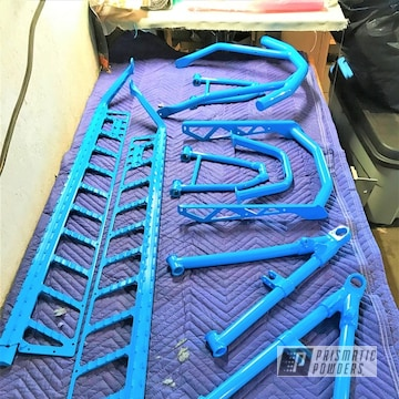 2014 Polaris Rmk Snowmobile Parts Coated In Playboy Blue