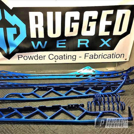 Powder Coating: Snowmobile Parts,SUPER CHROME USS-4482,Snowmobile,Powersports,ROYALTON BLUE UPB-2082