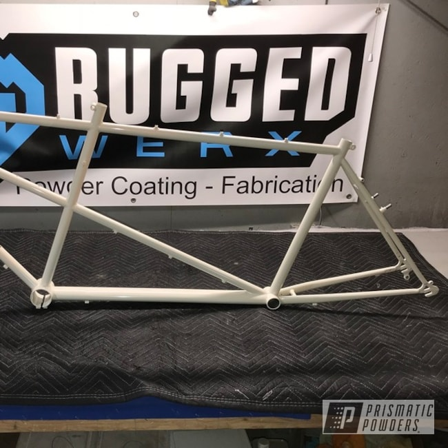 Powder Coated Bicycle Frame Using Prismatic's Butter Cream Color