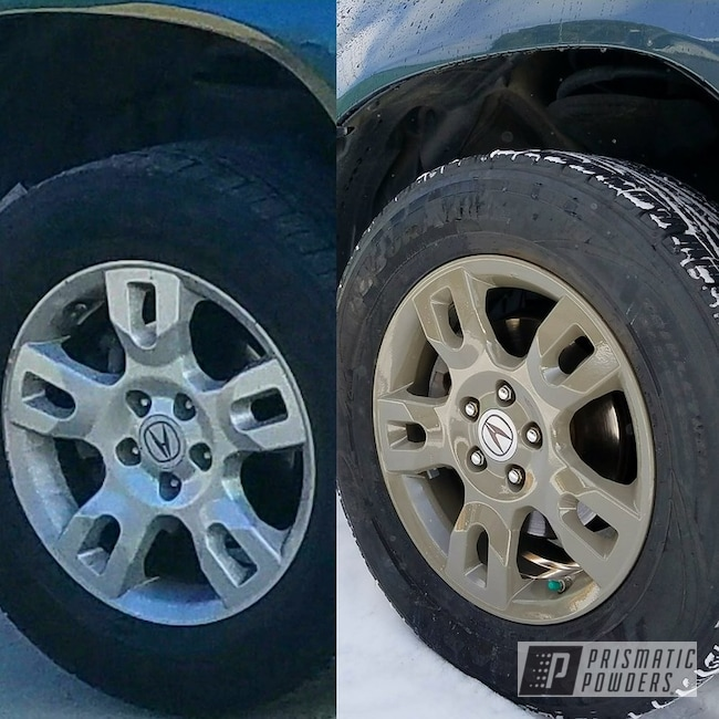 Acura Rims Refinished Using Gardner Grey And Clear Vision