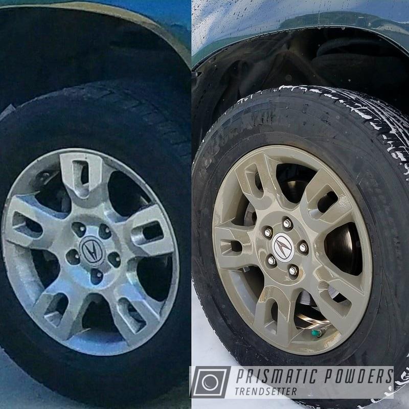 Powder Coating: Wheels,rockin rims,Clear Vision PPS-2974,Rims,Applied Plastic Coatings,Acura,Grey,Acura rims,Gardner Grey PSS-5340,Brown