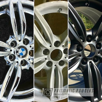 Before And After Wheels Coated In Evo Grey