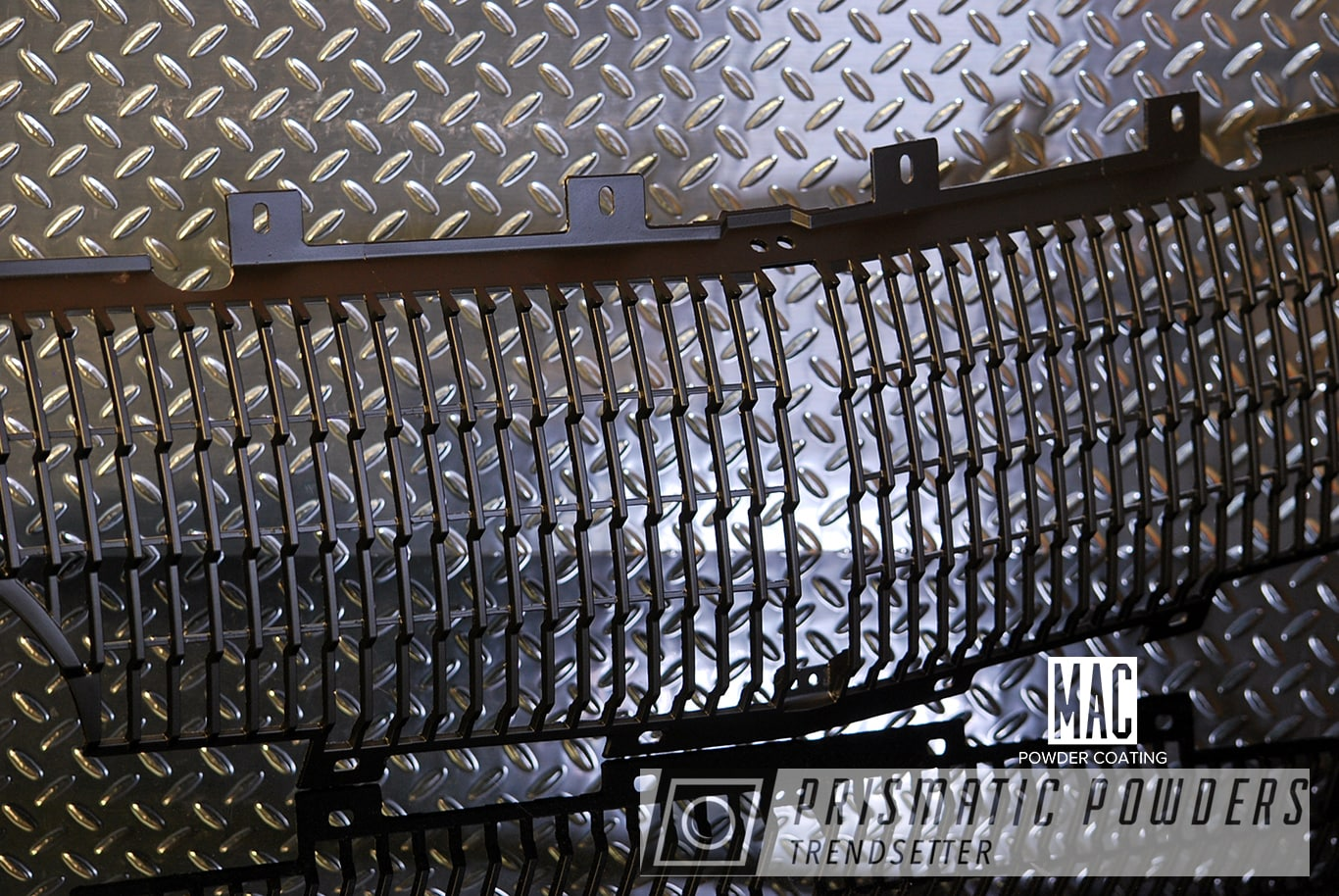 Powder Coating: Automotive,TBird,Automotive Front Grille,Antique Front Grille,66 T Bird,Silk Satin Black HSS-1336