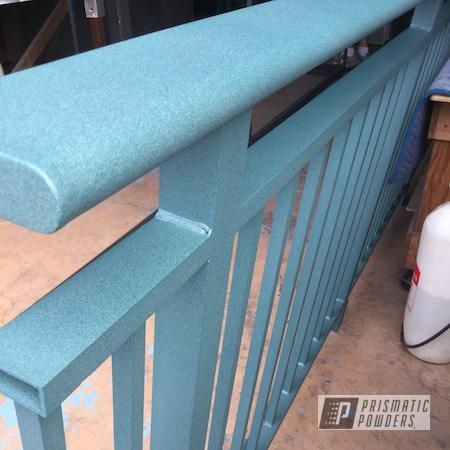 Powder Coating: Railings,Resort,Gates,Surf Green PTS-4348,powder coating,powder coated,Prismatic Powders,Textured Finish,Powder Coating Hawaii,Textured,Customfab
