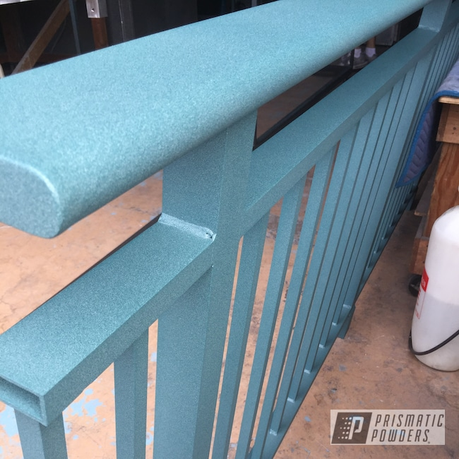 Powder Coating: Railings,Resort,Gates,Surf Green PTS-4348,powder coating,powder coated,Prismatic Powders,Textured Finish,Powder Coating Hawaii,Textured,Customfab