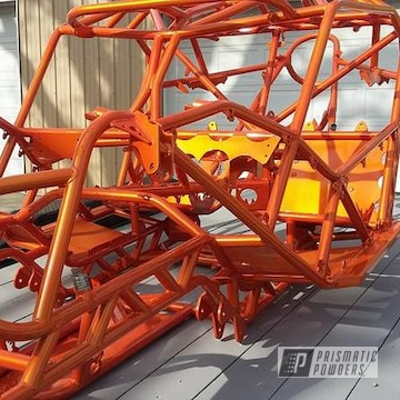 Full Rock Crawler Project Coated In Illusion Orange And Clear Vision