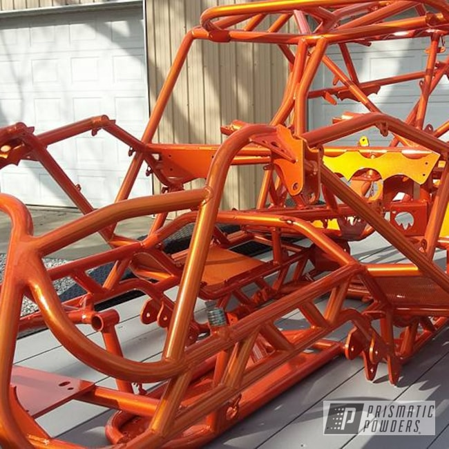 Powder Coating: Clear Vision PPS-2974,UTV,Rock Crawler,Illusion Orange PMS-4620